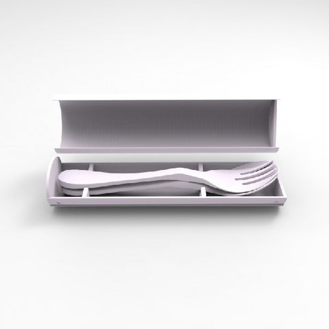 Biodegradable Utensil Set and Carrying Case