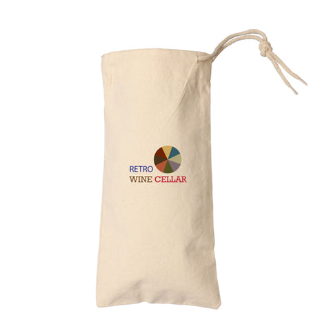 Cotton Drawstring Wine Bag