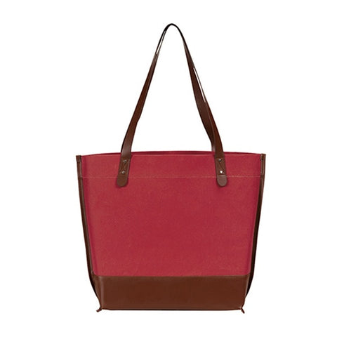 Leather and Recycled Kraft Paper Tote