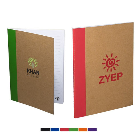 Recycled Paper Pop-of-Color Notebook