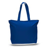 Large Cotton Tote with Zipper