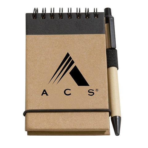 100% Recycled Cardboard Cover Jotter With Pen