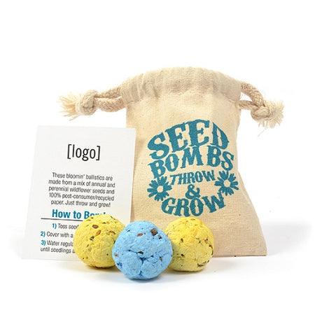 Annual and Perennial Wildflower Seed Bomb Bag