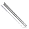 Silver Stainless Steel Straight Straws - Set of 2