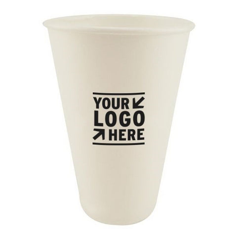 Compostable Recycled Paper White Cup