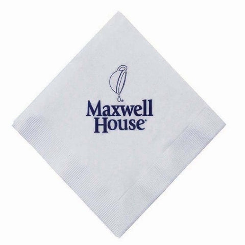 Recycled Paper White Beverage Napkin