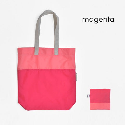 Compact Two-Tone Tote Bag