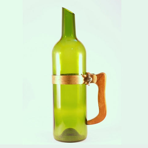 Upcycled Wine Bottle Jug