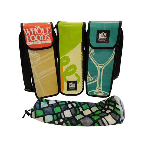 Wine Tote from Upcycled Billboards and Banners