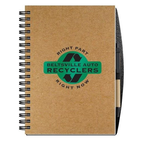 "7"" x 10"" Recycled Paper Journal with Pen (100 Sheets)"