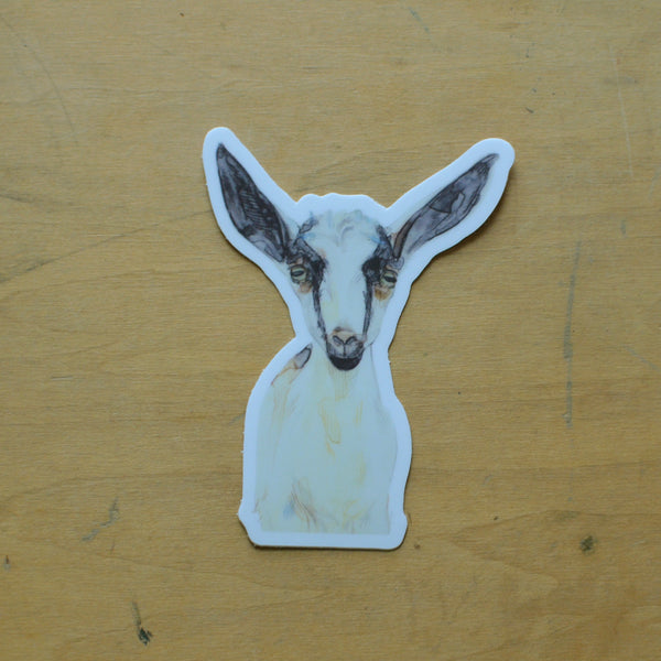 Poppy Goat Sticker