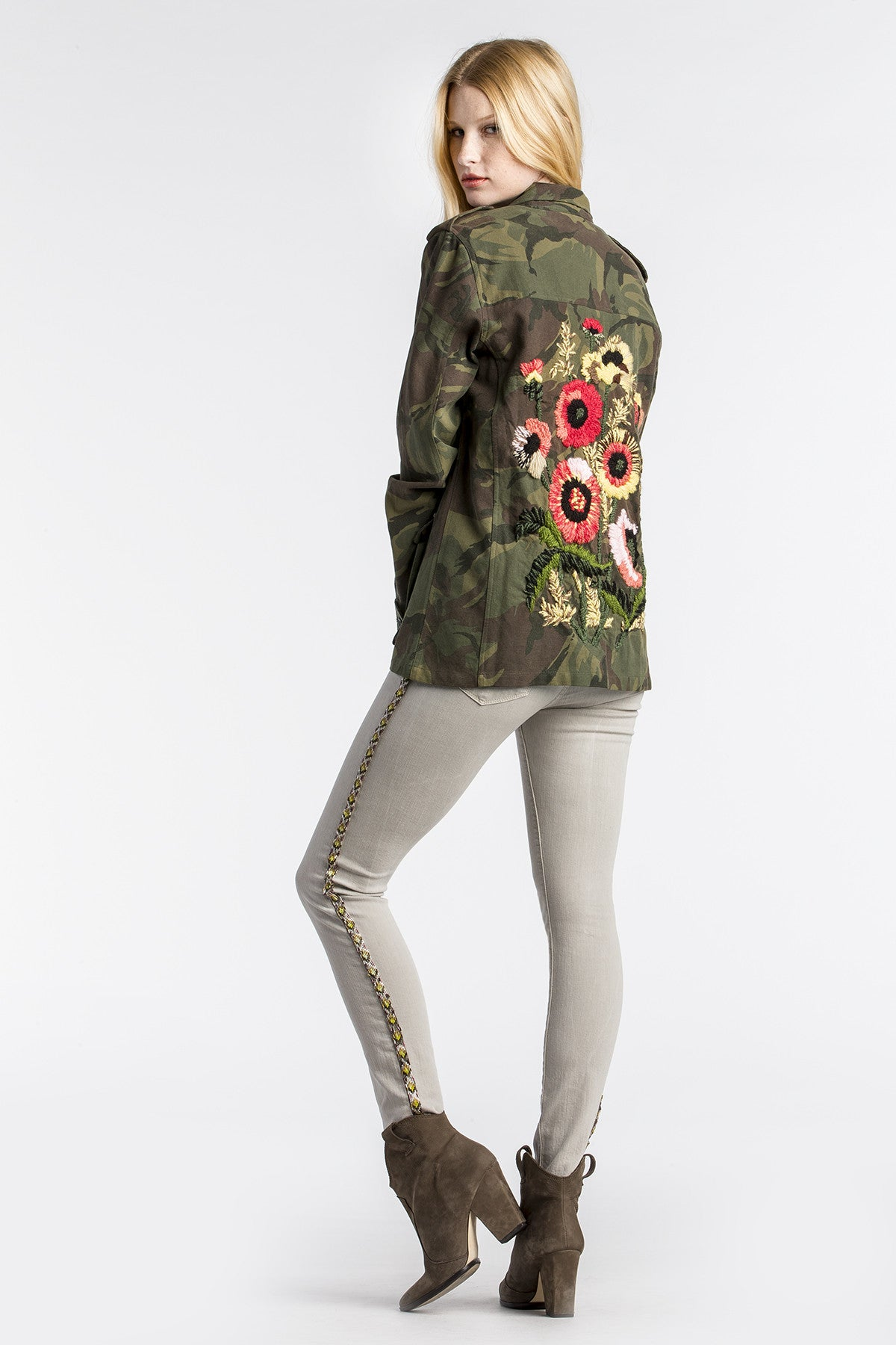 Camo Clash Embroidered Jacket