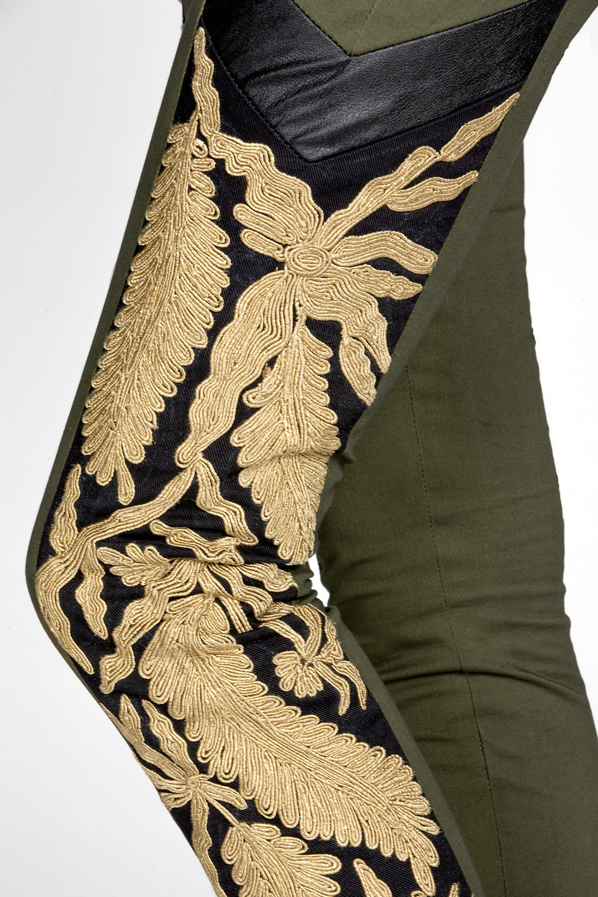 MM Vintage Strike Gold Embroidered Pants-3