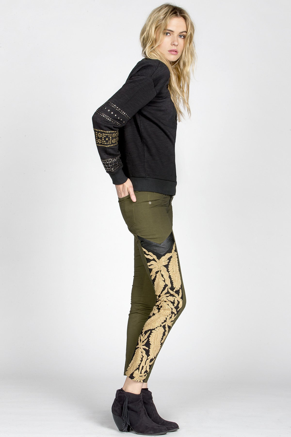 MM Vintage Strike Gold Embroidered Pants-4