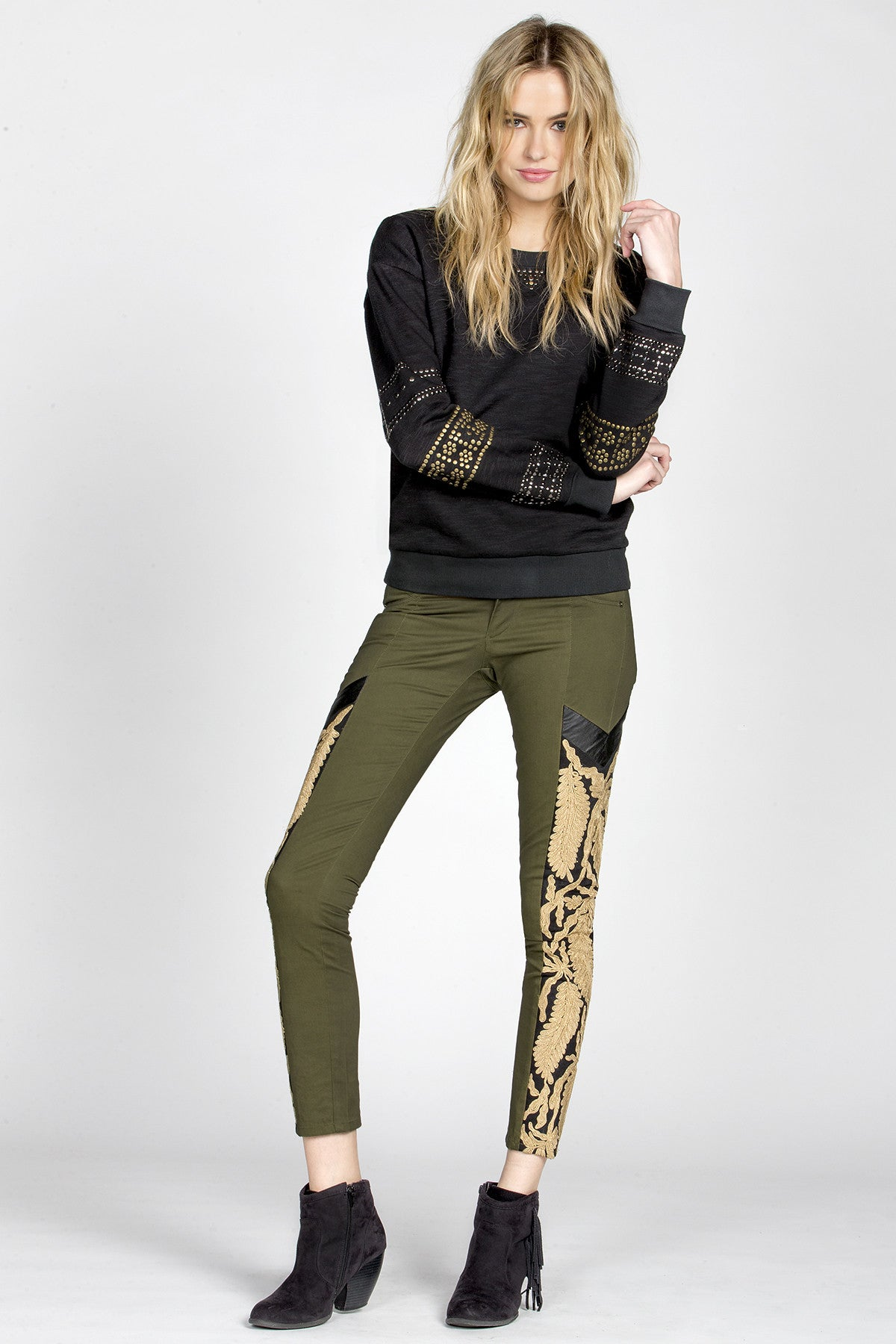 MM Vintage Strike Gold Embroidered Pants-5
