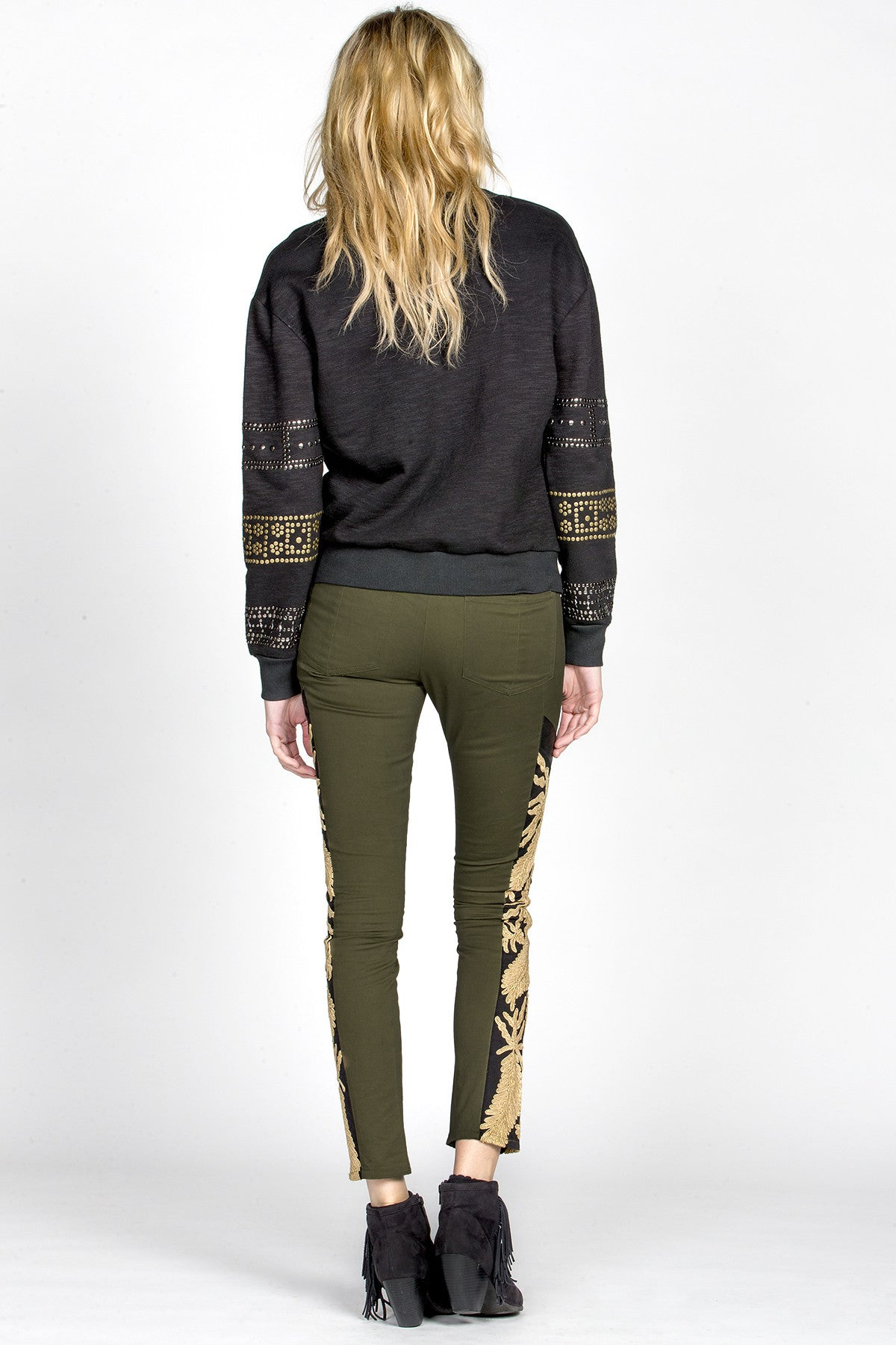 MM Vintage Strike Gold Embroidered Pants-6