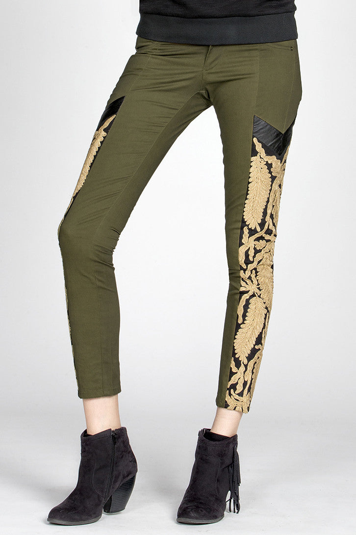 MM Vintage Strike Gold Embroidered Pants-2