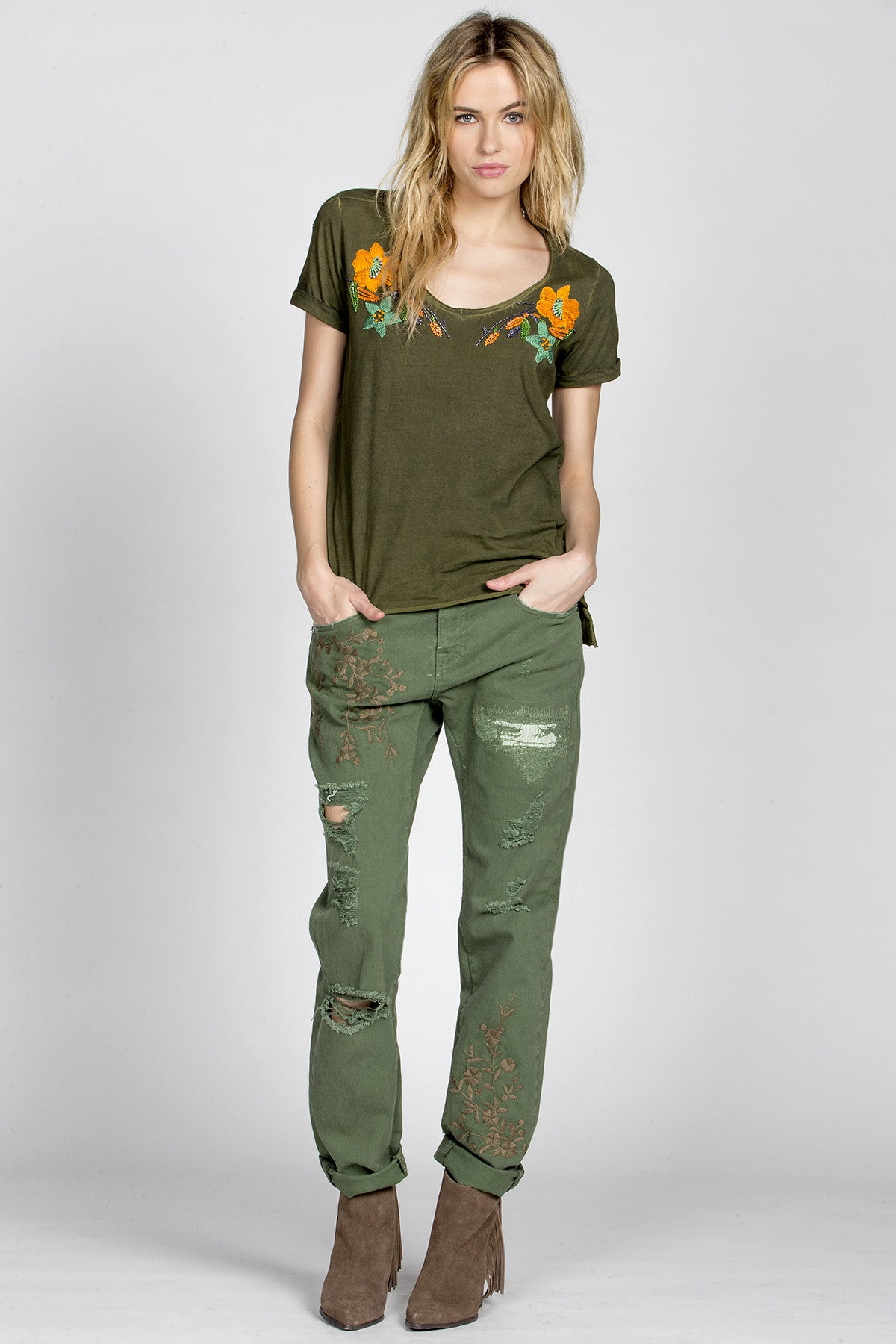 Floral Affair Embroidered Top