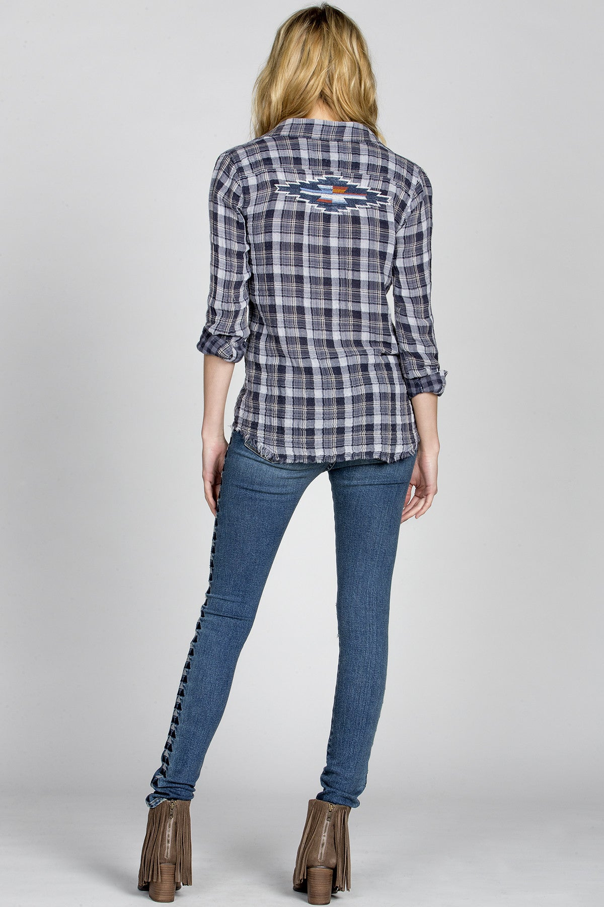 Hidden Charm Plaid Shirt