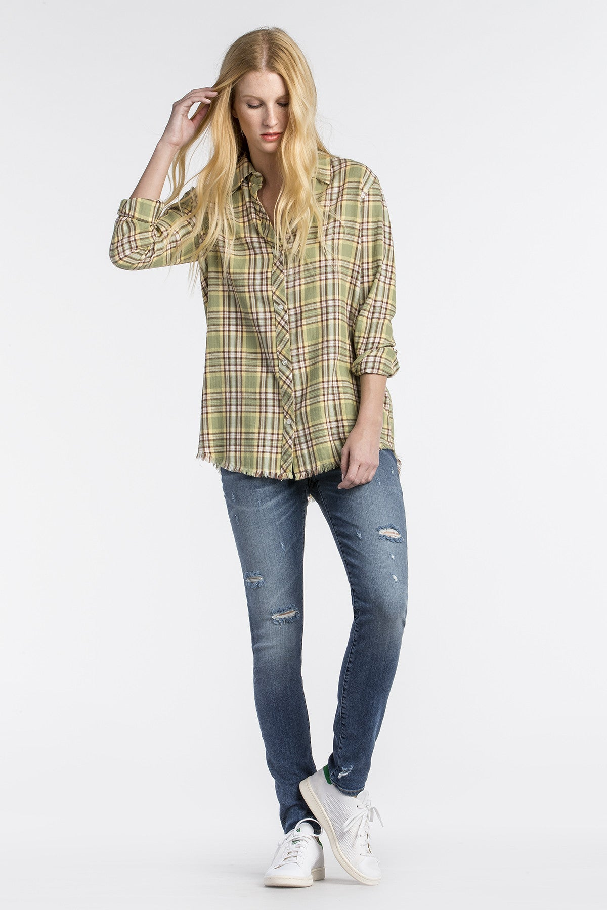 Budding Romance Plaid Top