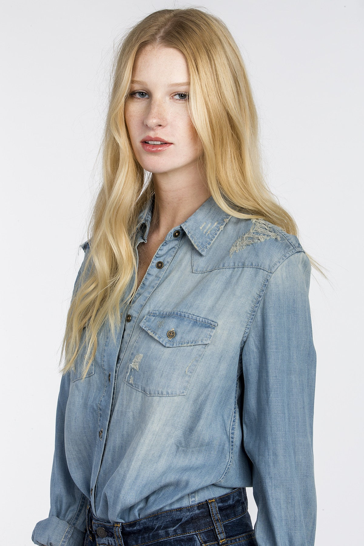 Tried And True Denim Top