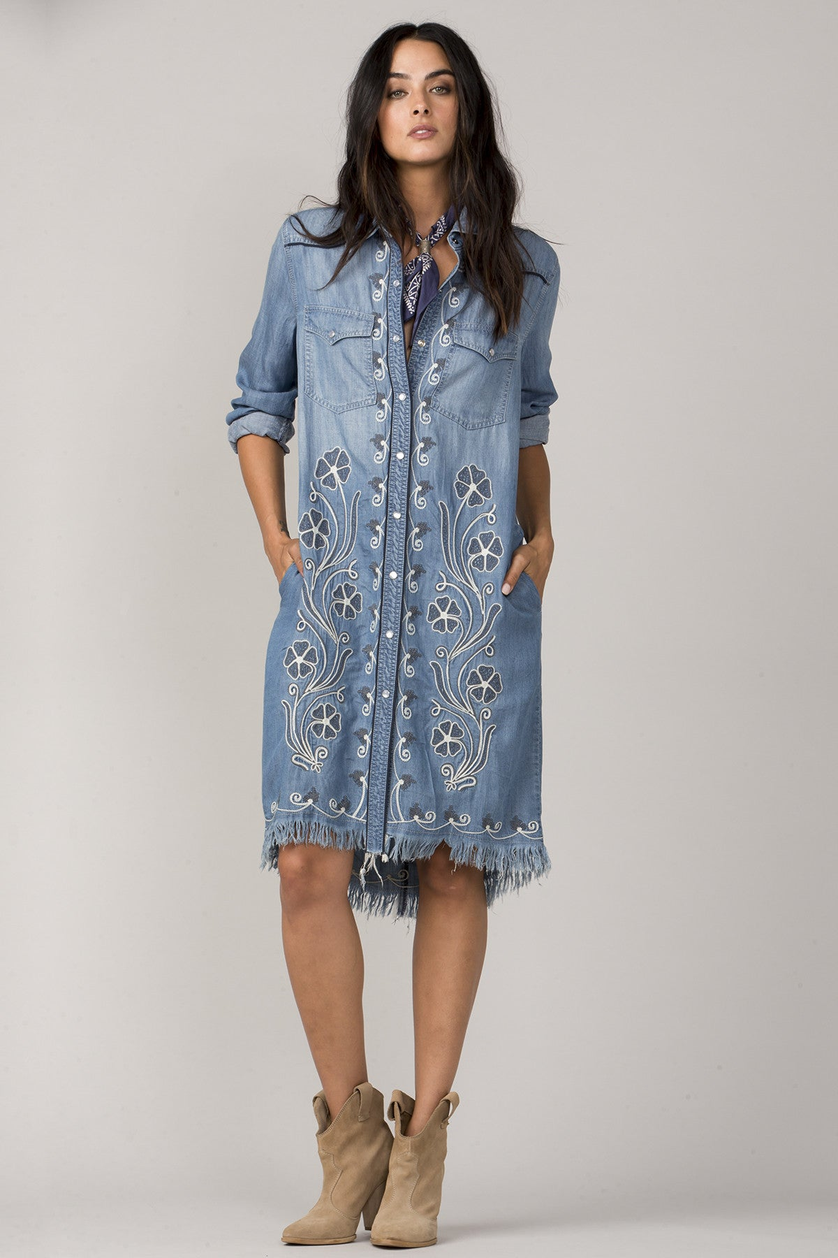 In Full Bloom Shirt Dress