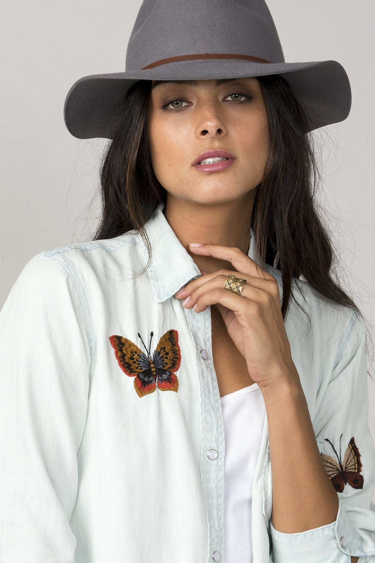Beauty In Bloom Button-Up Top