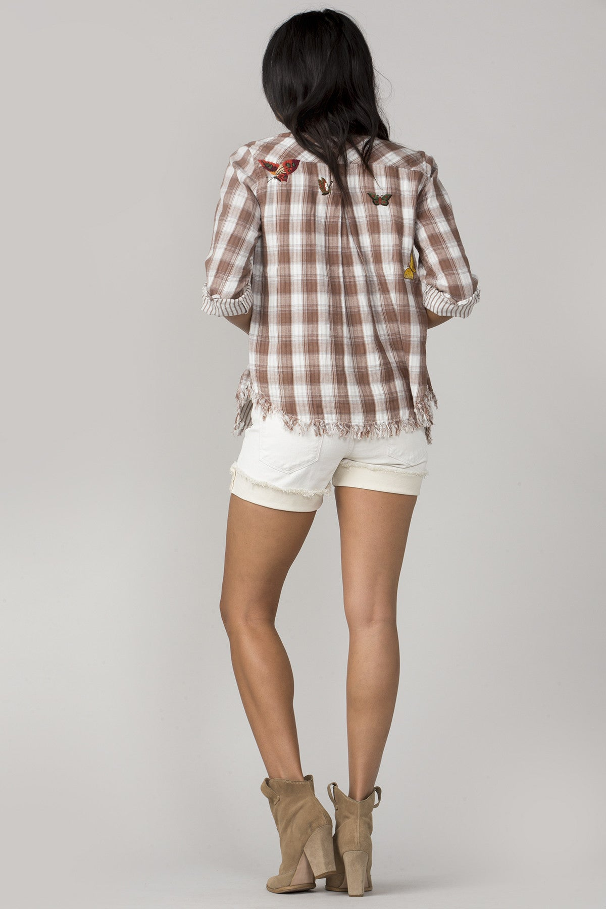 Swept Away Plaid Top