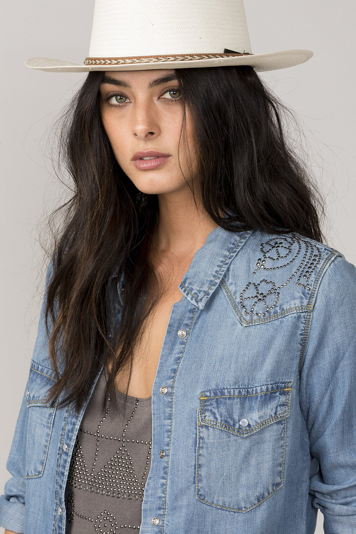 Connect The Dots Denim Top