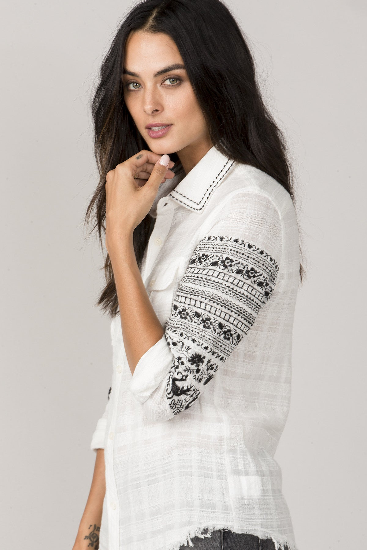 Sure Thing Button-Up Top