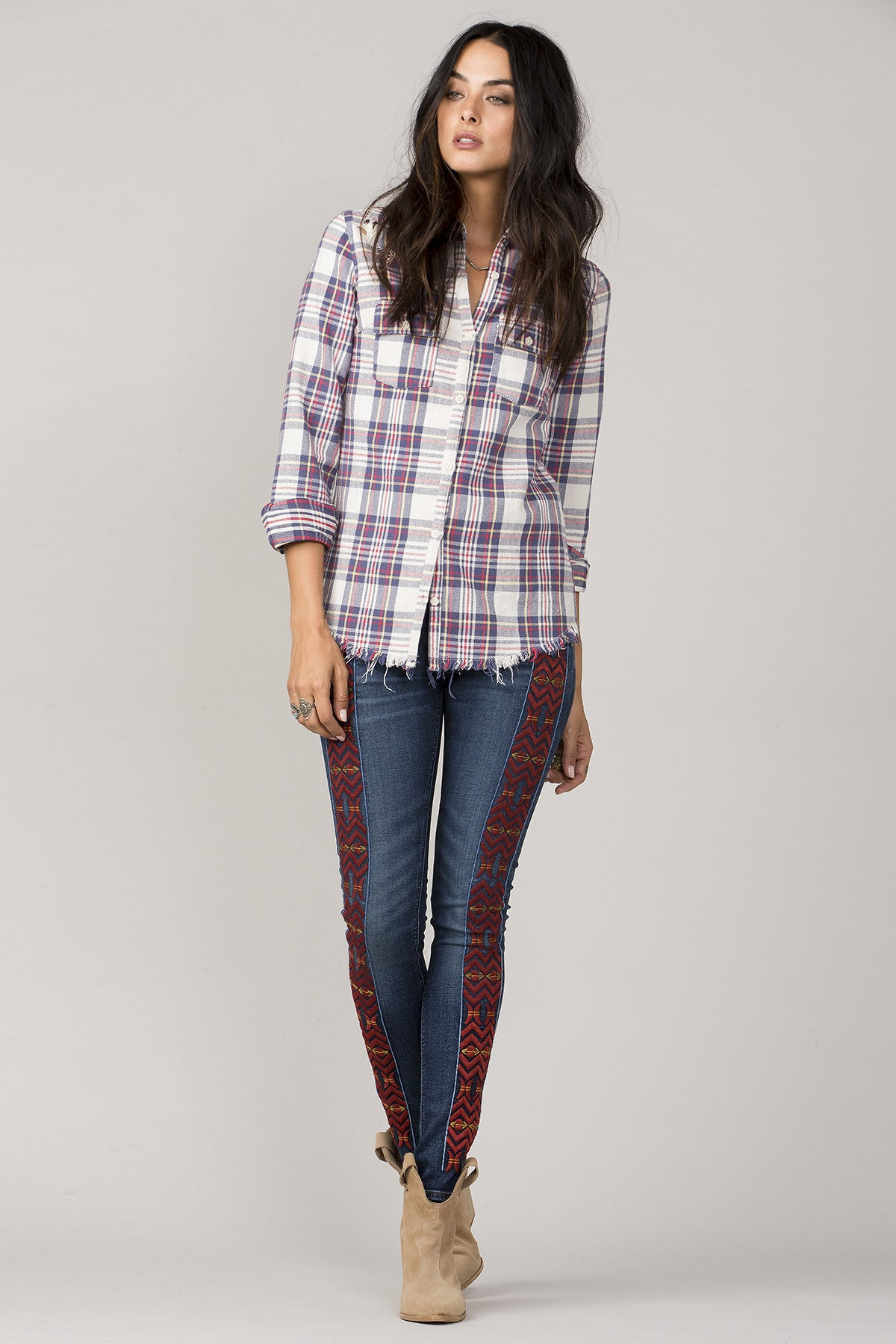 A Cut Above Plaid Top