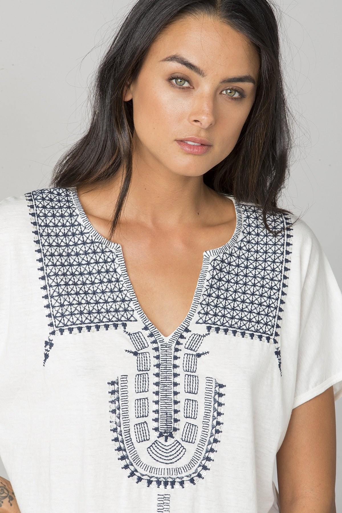 Nubian Embroidered Top