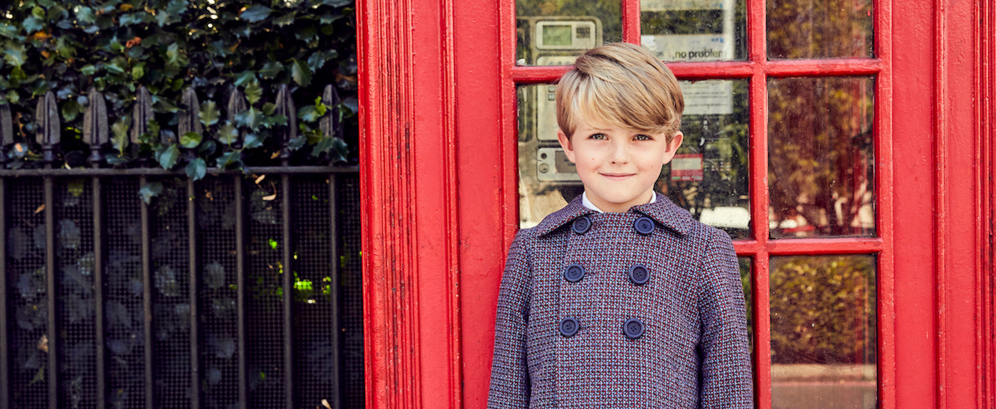 The Great British Baby Company Britannical Luxury Children's clothing made in Britain baby boys coats