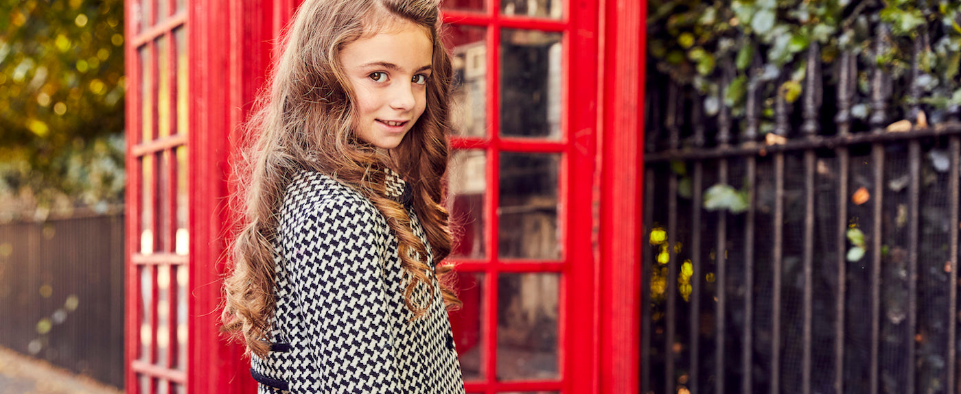 Britannical luxury children's clothing made in Britain girls coats