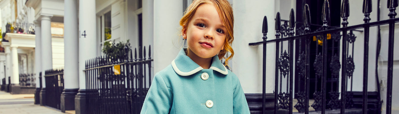 Luxury baby coats luxury baby accessories by Britannical luxury children's coats luxury kids coats luxury children's clothing made in britain The Great British Baby Company