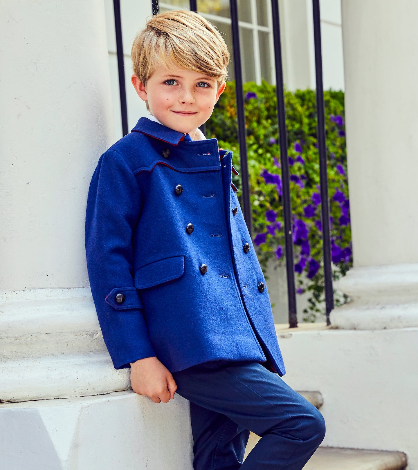 Luxury boys coats by Britannical luxury children's coats luxury kids coats luxury children's clothing made in Britain