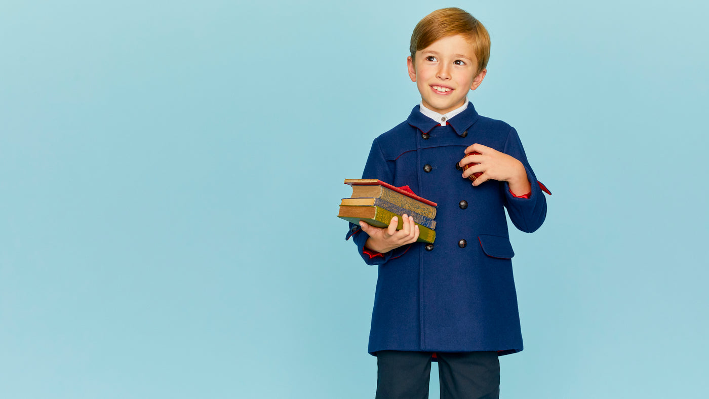 Luxury boys coats Britannical luxury children's coats luxury kids coats luxury children's clothing made in Britain
