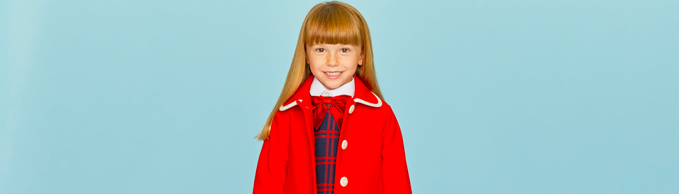Girls bows by Britannical luxury children's coats luxury kids coats luxury children's clothing made in Britain