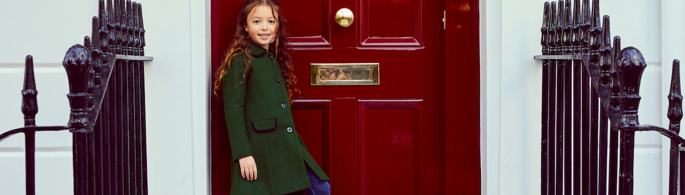 Luxury girls coats luxury girls accessories by Britannical luxury children's coats luxury kids coats luxury children's clothing made in Britain