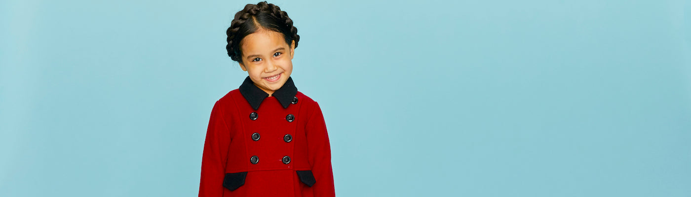 Girls dress coats by Britannical luxury children's coats luxury kids coats luxury children's clothing made in Britain