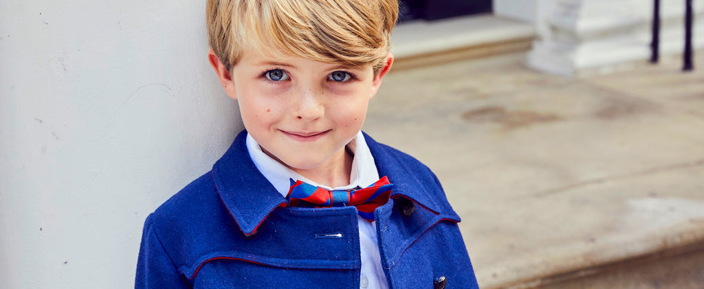 Britannical luxury children's clothing made in Britain boys coats