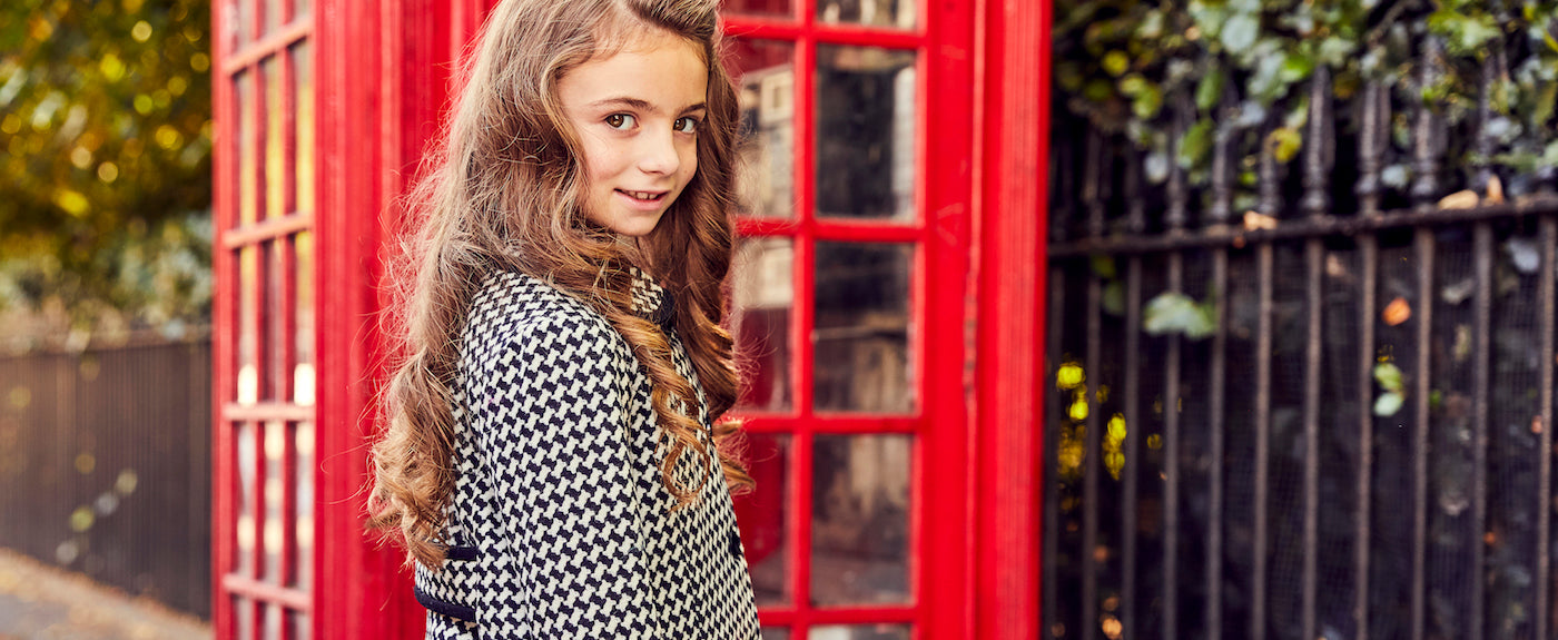 Britannical Luxury Children's clothing made in Britain girls coats Kensington style
