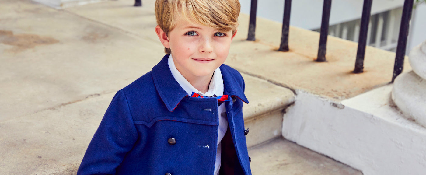 Britannical Luxury Children's clothing made in Britain boys coats Marylebone style