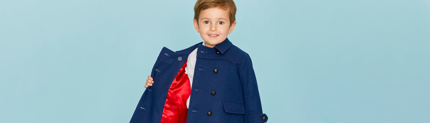 Baby boys coats by Britannical luxury children's coats luxury kids coats luxury children's clothing made in britain