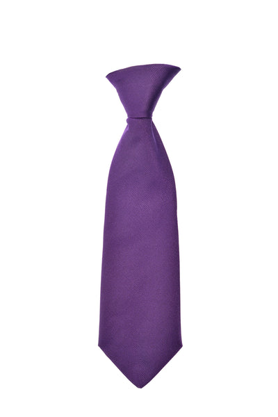 Child's neck tie silk purple by Britannical luxury children's clothing made in Britain