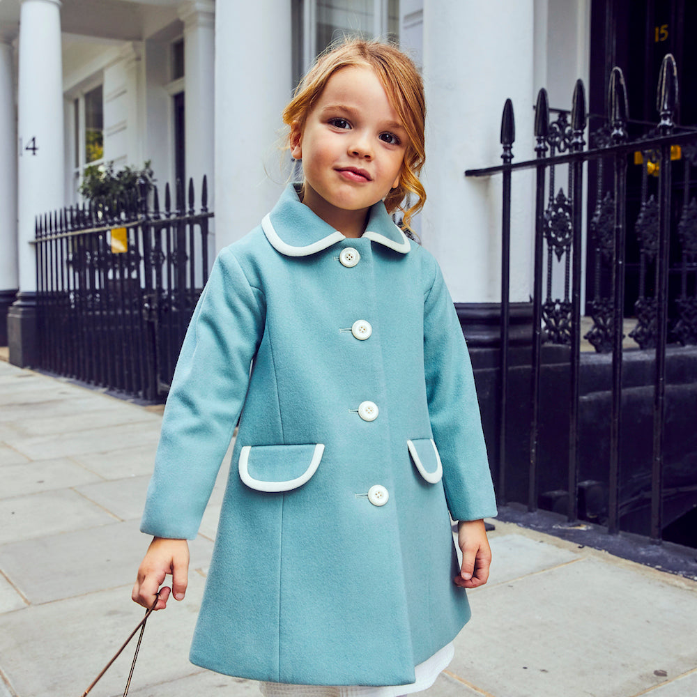 outlet offer authentic quality Kensington Girls Gallery Coat - Royal Duck Egg