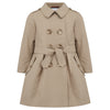 Britannical luxury children's clothing girls trenchcoat beige made in britain