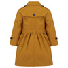 Girl's trench coat mustard yellow Bayswater style by Britannical luxury children's coats luxury kids coats luxury children's clothing made in Britain