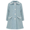 Chelsea Girls Coat - Cadogan Teal & White