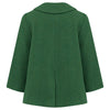 Boy's double breasted coat green wool Pimlico style by Britannical luxury children's coats luxury kids coats luxury children's clothing made in Britain